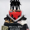 AC163 Two tier Gangster Cake