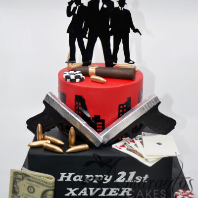 Two tier Mobster Cake - AC163