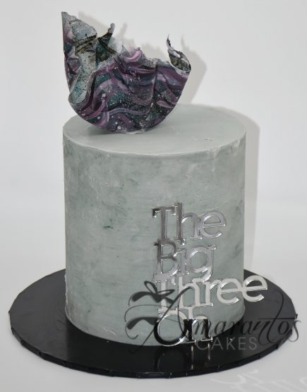 AC164 Two tier Concrete look cake