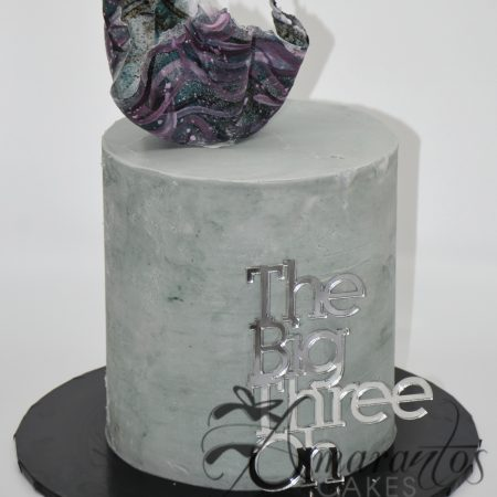 Two tier Concrete Look Cake – AC164