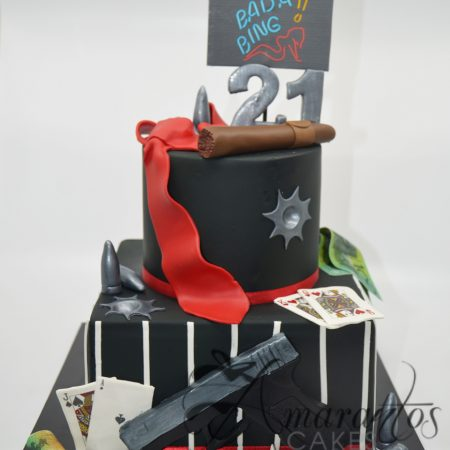 Two tier Noir Cake – AC167