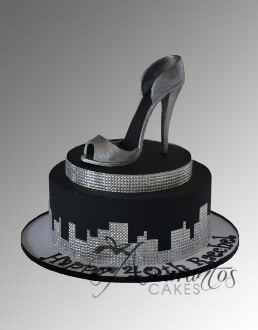 AC178 bling shoe WM 2 Amarantos Cakes