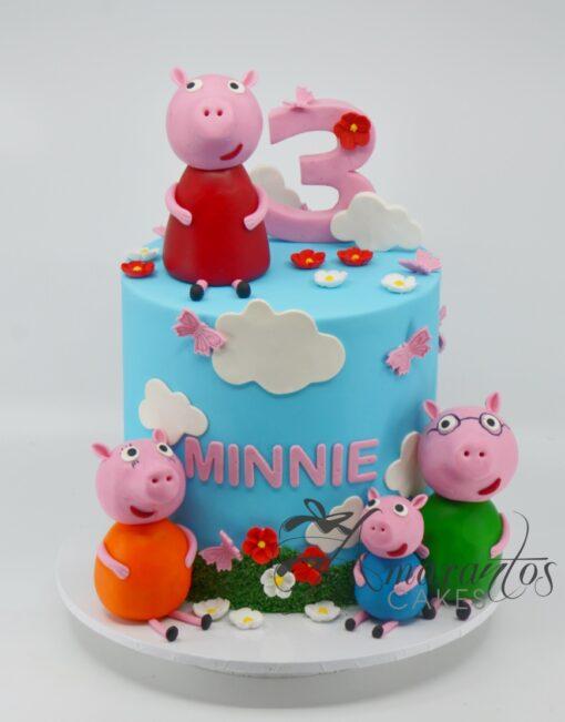 Peppa Pig Cake - AC181 - Amarantos Cakes