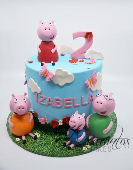 Peppa Pig Cake - Amarantos Designer Cakes Melbourne