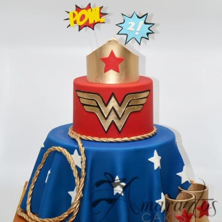 Three tier Wonder Woman Cake – AC184