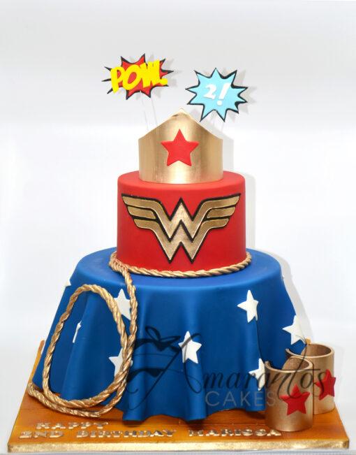 AC184 wonder woman WM 1 Amarantos Cakes