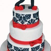 Three Tier Damask Cake - Amarantos Designer Cakes Melbourne