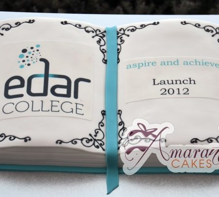 Book Corporate logo cake- AC188