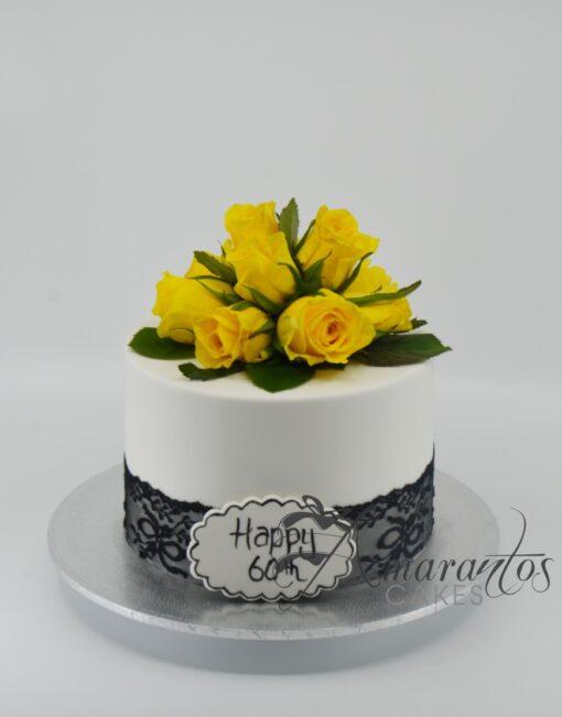 AC189 birthday with flowers WM 1 Amarantos Cakes
