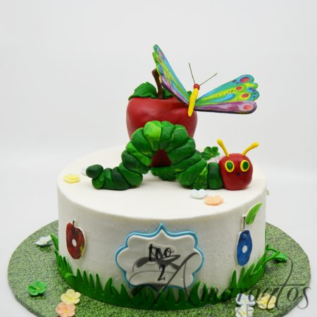 Single tier hungry caterpillar cake – AC194