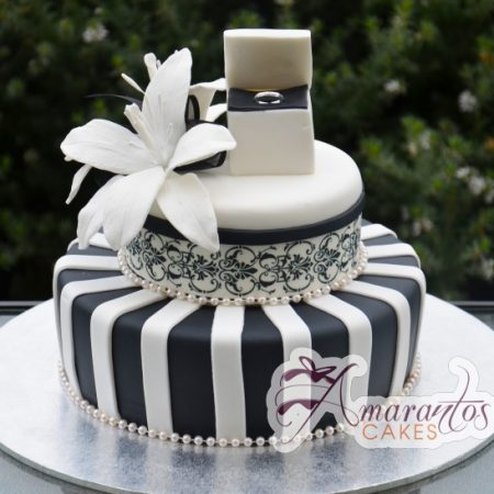 Two tier Black and white Design- AC196