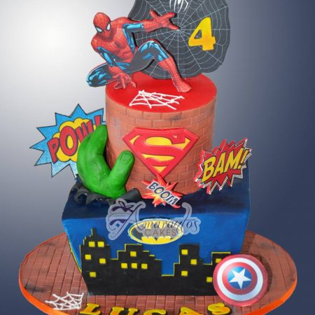 Two tier super hero cake – AC197