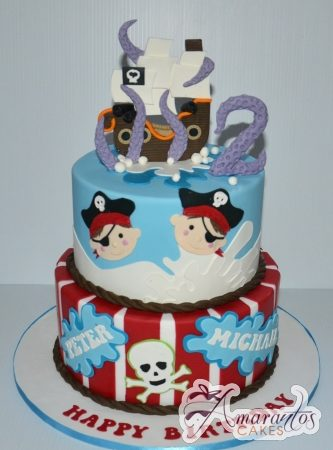 Two tier Pirate Cake- AC205