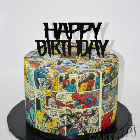 Two Tier Spiderman Comics Cake – AC209