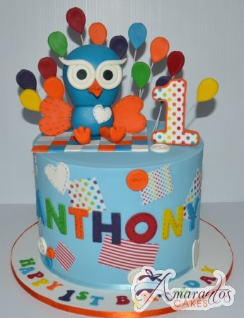 Two tier Hoot Cake- AC211