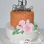 Extravagant 50th Birthday cake