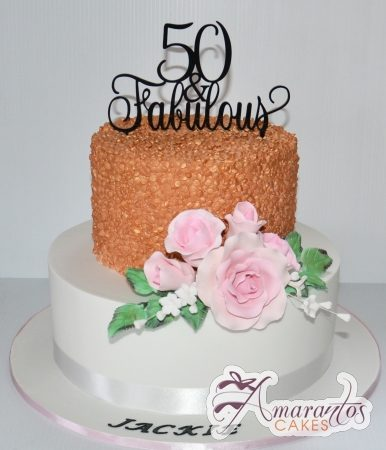 Two tier designed Cake – AC212