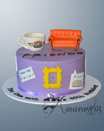 Friends Themed Cake - AC215 - Amarantos Cakes