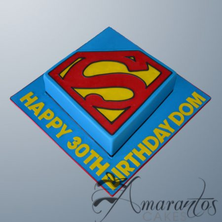 Superman logo cake _ AC216