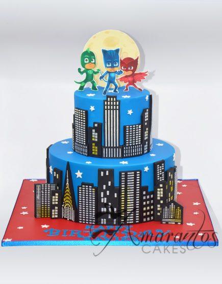 AC217 - Pj Masks cake Amarantos Cakes