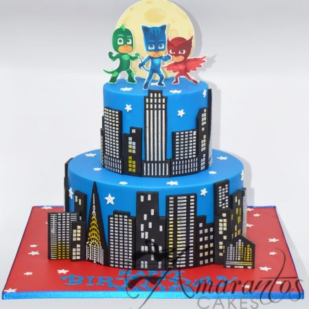 Two tier PJ Masks cake – AC217