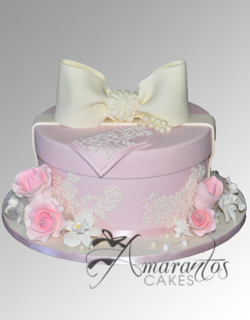 AC218 hat box WM 1 Amarantos Cakes