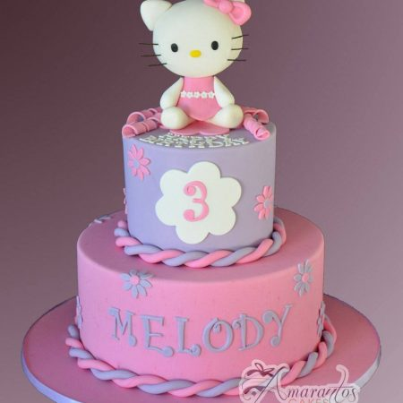 Two tier Hello Kitty Cake- AC219