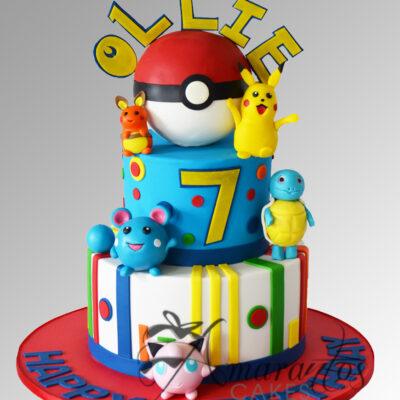 Pokemon Cake - AC220 - Amarantos Cakes