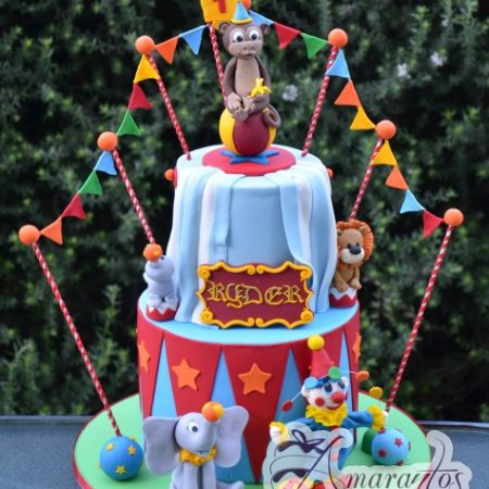 Four tier circus themed cake – AC221