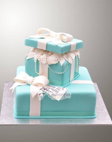 AC222 two tier tiffany cake