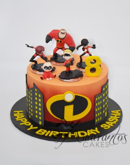 AC224 Incredibles Cake Amarantos Cakes Melbourne