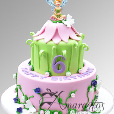 Two tier tinker bell cake AC229