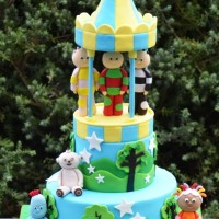 Two tier With In the Night Garden Figures - Amarantos Cakes Melbourne