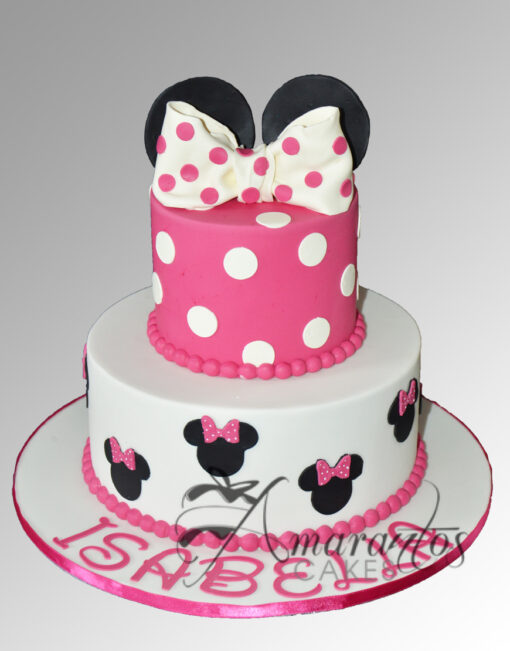 TWO TIER MINNIE CAKE - AMARANTOS CAKES MELBOURNE