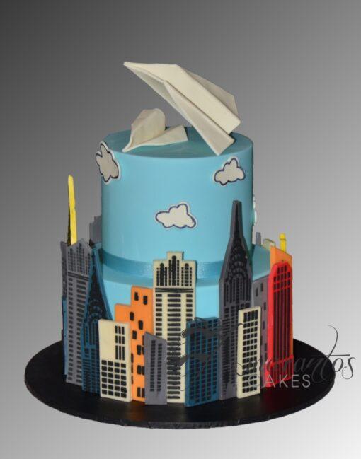 AC237 paper aeroplanes planes WM Amarantos Cakes