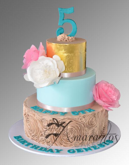 AC238 wafer flowers rouching WM 1 Amarantos Cakes