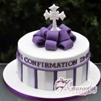 Confirmation Cake - Amarantos Cakes Melbourne