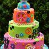 Three tier Hippie cake - Amarantos Cakes Melbourne