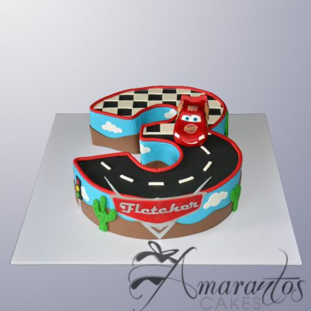 Number Cake with Lightning McQueen – AC246