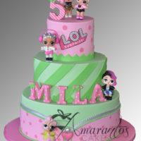 Three tier LOL Doll Cake – AC248
