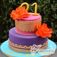 Bright 21st birthday cake - - Amarantos Designer Cakes Melbourne