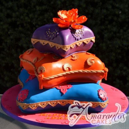 Three tier Moroccan themed cake – AC252