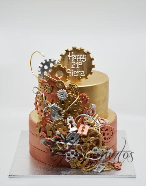AC262 steam punk cog wheels WM Amarantos Cakes