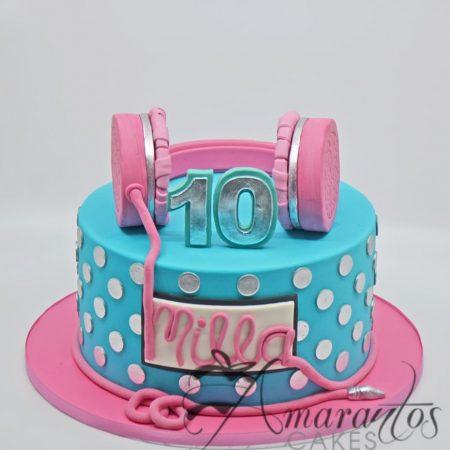 Headphones Cake- AC267