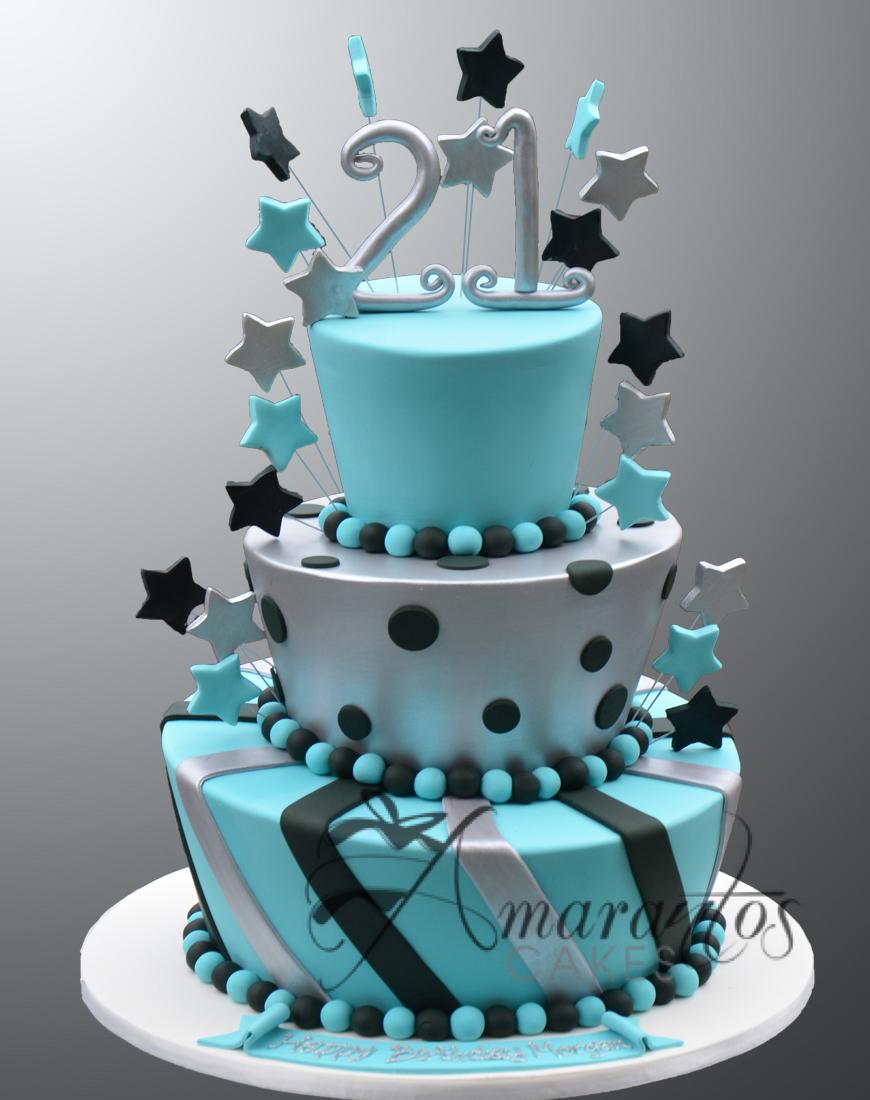 AC27 3 tier 21st mad hatter WM Amarantos Cakes