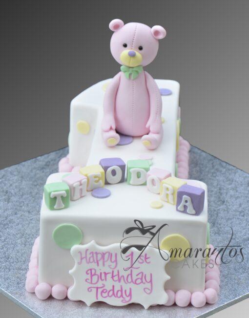 AC273 number 1 teddy WM Amarantos Cakes