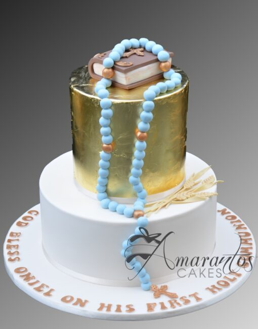AC280 2 tier confirmation communion WM Amarantos Cakes