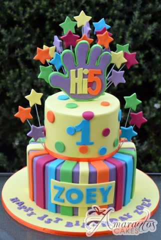 Two tier Hi 5 Cake - AC280 - Birthday Cakes Melbourne
