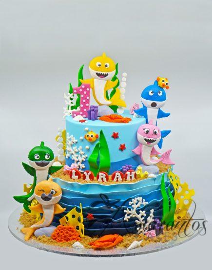 Baby Shark Cakes - AC281 - Amarantos Cakes Melbourne