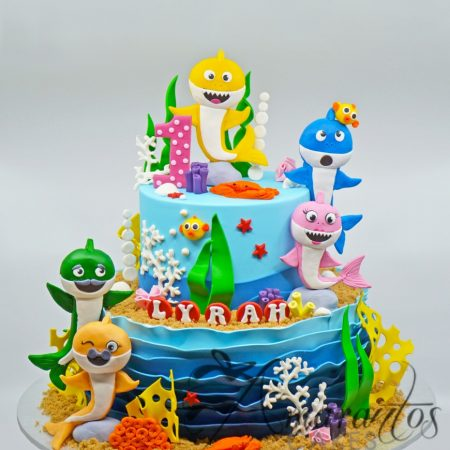 Two tier Baby Shark Cake – AC281